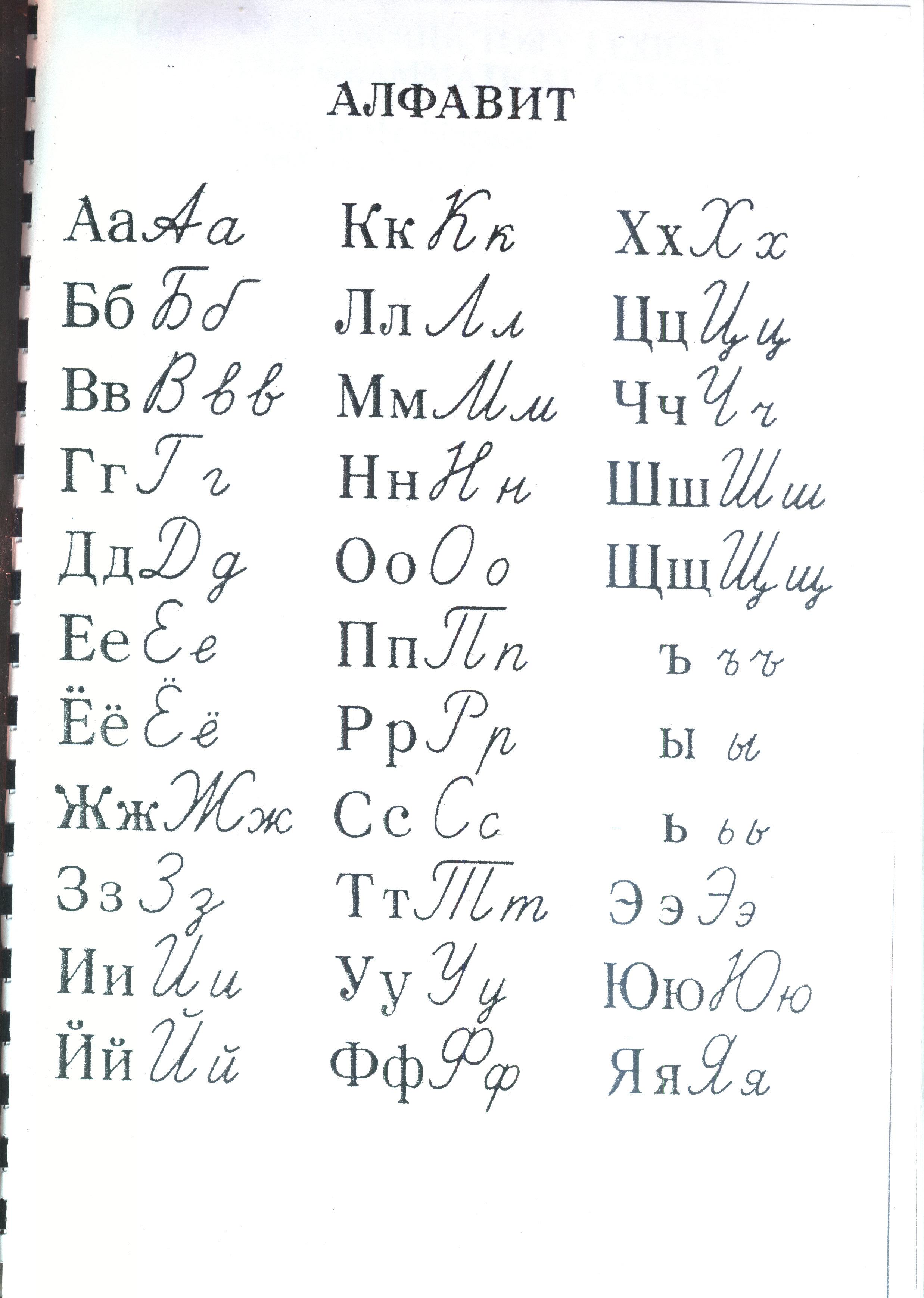 Russian handwriting | Tutor Liudmila Kazakova's Column